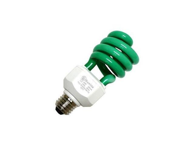 Sunlite 05512 - SL24/G 24W GREEN SWIRL Twist Medium Screw Base Compact Fluorescent Light Bulb