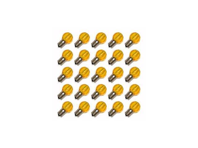 Sival 81007 - G30 Intermediate Screw Base Yellow LED 25 Pack Christmas Light Bulbs