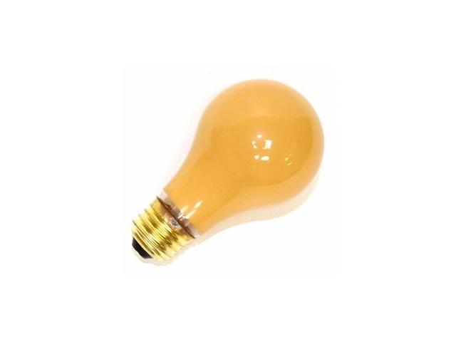 Halco 06338 - A19YEL25C Standard Solid Ceramic Colored Light Bulb
