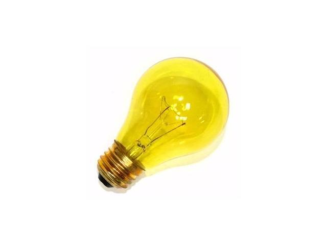 Sylvania 11713 - 25A19/TY/RP 125V Standard Transparent Colored Light Bulb
