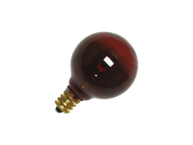 Satco 03833 - 10G12/Transp Red S3833 Colored Globe Light Bulb