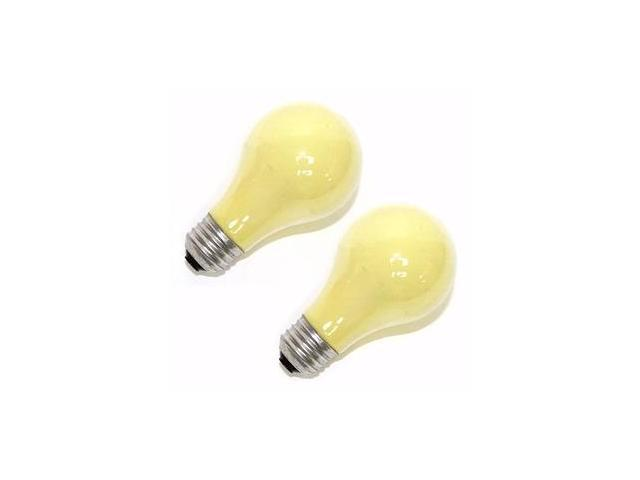 Sylvania 12763 - 100A/Y/RP 120V 2PK Standard Solid Ceramic Colored Light Bulb