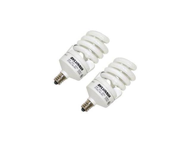 Sylvania 26941 - CF13EL/MICRO/827/C/BL/2PK Twist Candelabra Screw Base Compact Fluorescent Light Bulb