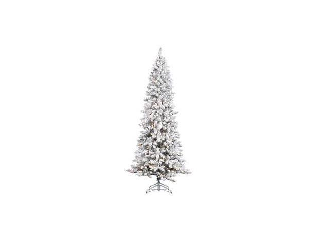 """Vickerman 27877 - 5' x 26"""" Flocked Pencil Pine Tree 150CL (J126251) 5' x 26"""" Heavy Flocked Pencil Pine 150 Clear Lights"""