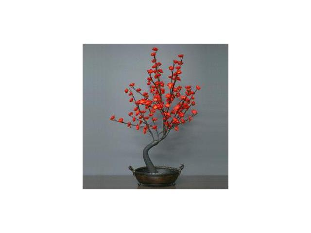"""Light Garden 00042 - 30"""" Red Bonsai Electric Lighted Tree with Bowl (128 White Lights)"""