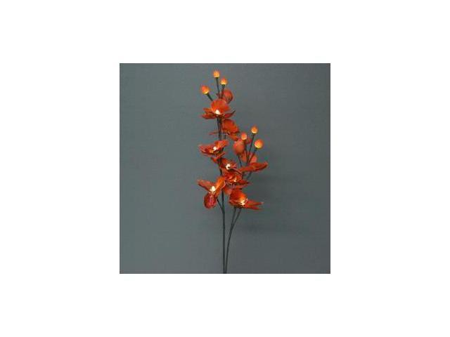 "Light Garden 00045 - 31"" Sunset Orchid Electric Lighted Branch (16 White & Sunset Orange Lights)"