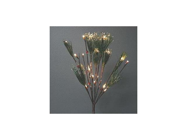 """Gerson 97464 - 39"""" Frosted Nordic Pine with Red Berries Battery Operated LED Lighted Branch with Timer (30 Lights)"""