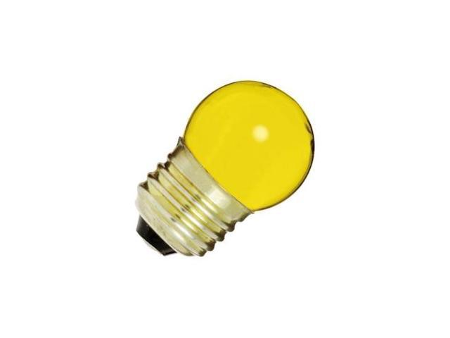 Satco 04512 - 7 1/2S11/Y S4512 Standard Screw Base Colored Scoreboard Sign Light Bulb