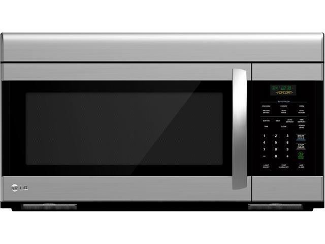 LG LMV1683ST 1.6 cu. ft. Non-Sensor Over-The-Range Microwave Oven