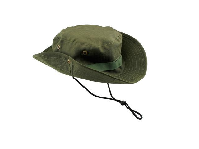 Fishing hunting bucket hat boonie outdoor cap washed for Green top hunting and fishing