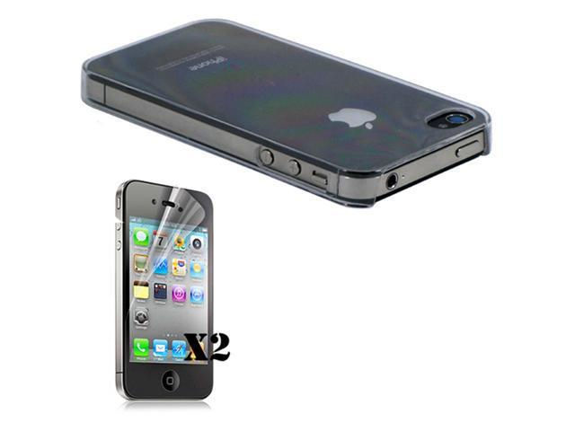 Verizon Iphone 4 4G ULTRA THIN 0.70 MM LIGHT Air CASE Clear With 2pcs Screen Guard - OEM