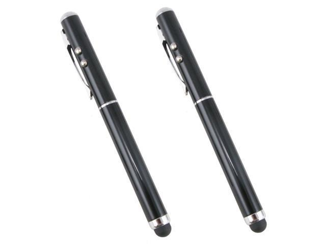 3-in-1 Stylus for HTC/EVO Tablet and iPad and all Capacitive Touch Screen Devices with Laser Pointer and LED Light (2 pieces) - OEM