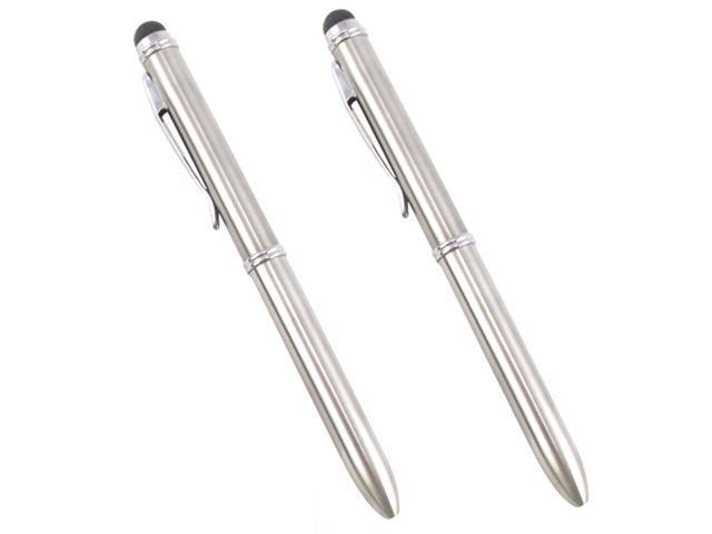 2pc Sliver Stylus Ballpoint Pen 2 color lnk for iPad, all iPhone, 4S and all Capacitive Touch Screen Devices