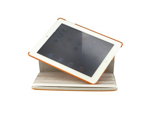 iPad 2 360° Rotating Magnetic Leather Case Smart Cover With Swivel Stand - OEM