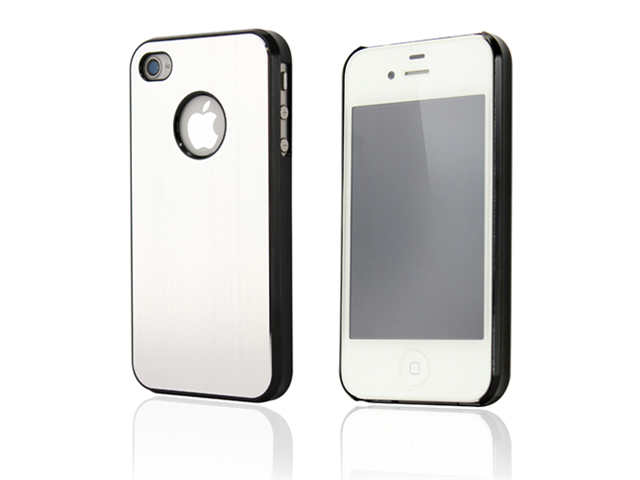 Metal Back Cover Case for iPhone 4/4S - OEM