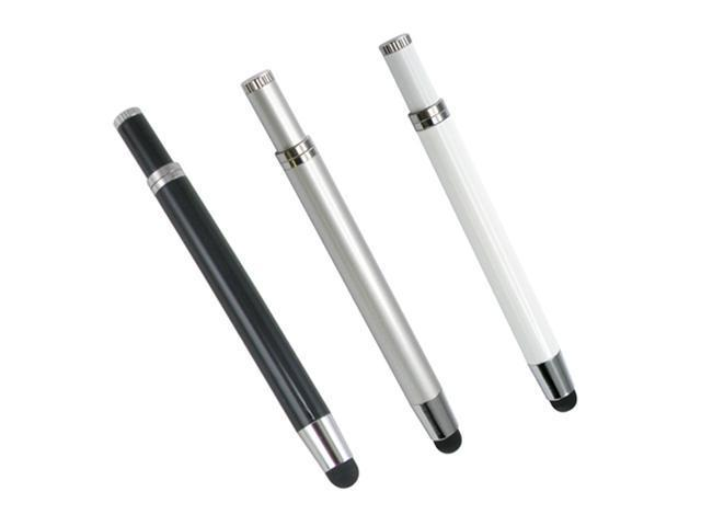3pc Mini Multi Function Ballpoint & Stylus Pen Combo for ALL Capacitive Touch Screen Device iPhone iPad - OEM