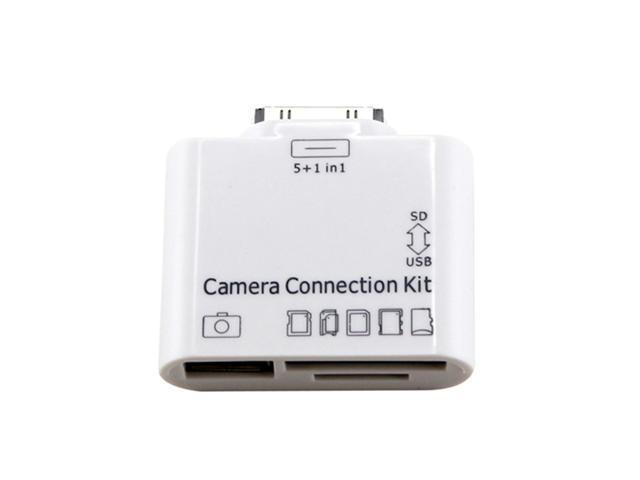 New 5-in-1 Card Adapter for Apple iPad 3 & 2 Camera Connection Kit USB TF SD MS - OEM