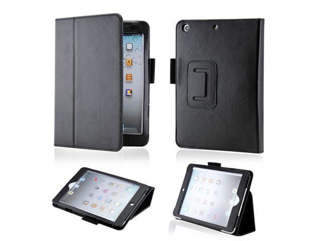 Black Magnetic PU Leather Folio Stand Case Smart Cover Stylus Holder for iPad Mini and 2013 iPad Mini with Retina Display - OEM