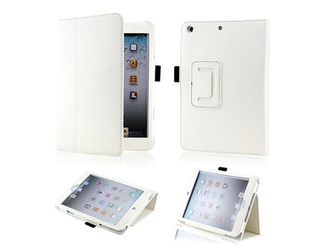 White Magnetic PU Leather Folio Stand Case Smart Cover Stylus Holder for iPad Mini and 2013 iPad Mini with Retina Display - OEM