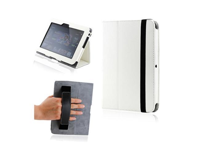 Kindle fire HD White Magnetic Microfiber Leather Case w/Smart Cover Handheld Belt Stylus Holder