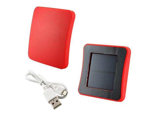 Solar Powered External Charger Battery for Apple® iPhone® 3, 4, 5C, 5S, Samsung Galaxy S3, S4 - Red