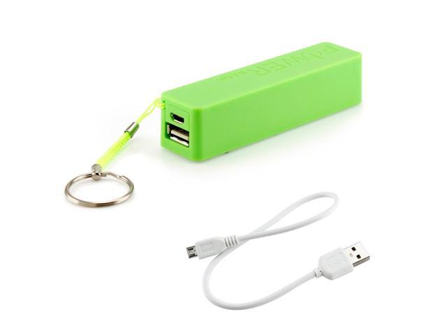 2600mAh Universal Power Bank Backup External Battery Pack Portable USB Charger green