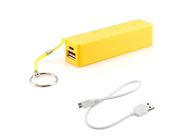 2600mAh Universal Power Bank Backup External Battery Pack Portable USB Charger yellow