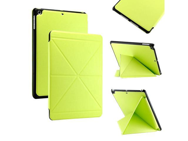 Gearonic ™ Slim PU Leather Smart Magnetic Shell Case Cover with Multi Folding Triangle Stand for Apple iPad Air 5th 5G - ... - OEM