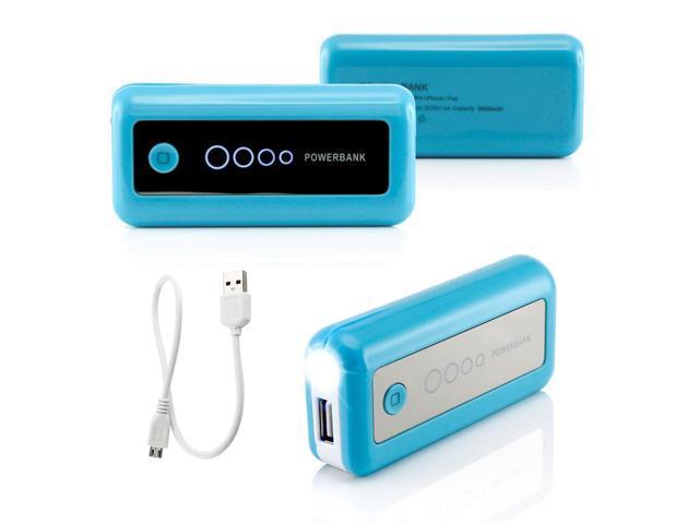 Gearonic ��� 5600mAh Universal Power Bank Backup External Battery Pack Portable USB Charger - Blue