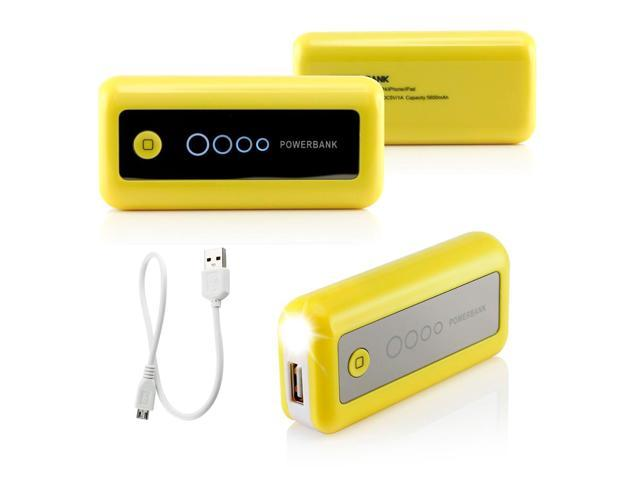Gearonic ™ 5600mAh Universal Power Bank Backup External Battery Pack Portable USB Charger - Orange