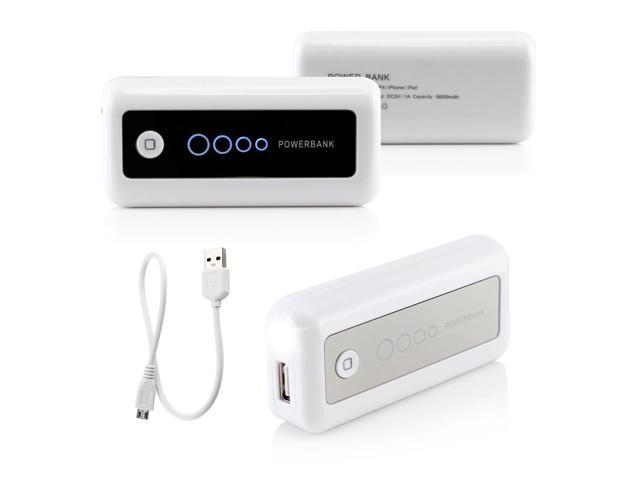 Gearonic ™ 5600mAh Universal Power Bank Backup External Battery Pack Portable USB Charger - White