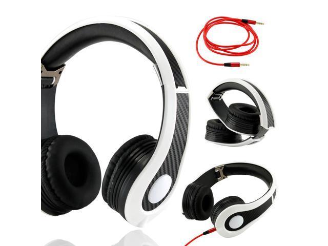 Gearonic ™ Carbon Fiber Print Adjustable Circumaural Over-Ear Earphone Stero Headphone 3.5mm for iPod MP3 MP4 PC iPhone Music ...