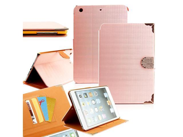 GEARONIC ™ Bling Case Folio Leather Smart Magnetic Cover Stand Clip and Credit Card Slots for Apple iPad Mini 2 with Retina ... - OEM