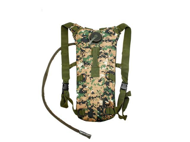 2L Hydration System Climbing Survival Hiking Pouch Backpack Bladder Water Bag - Jungle