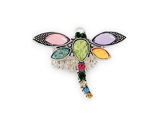 Multi Color Acrylic Crystal Dragonfly Stretch Ring Fashion Jewelry