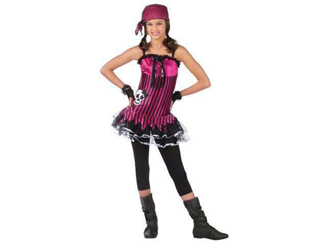 Girls Rockin Skull Pirate Costume