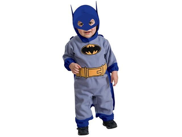 Infant Blue and Gray Batman Romper Costume