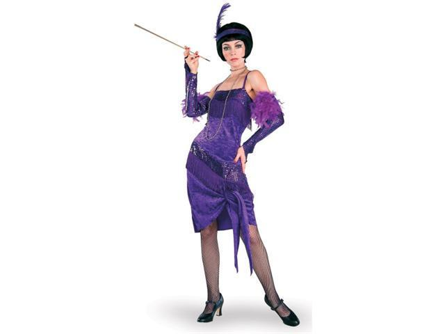 Adult Fabulous Purple Flapper Dress