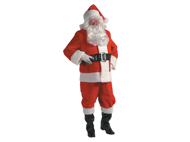 Xx-large Rental Quality Santa Claus Suit With FREE Wig and Beard!
