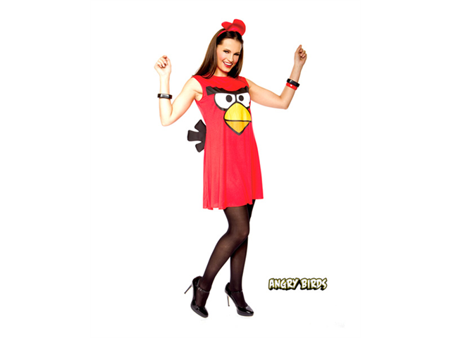 Womens Angry Birds Sassy Red Bird Adult Costume