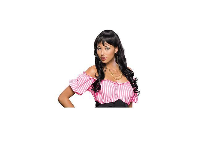 Sexy Long Black Hair Loose Curls Halloween Costume Wig