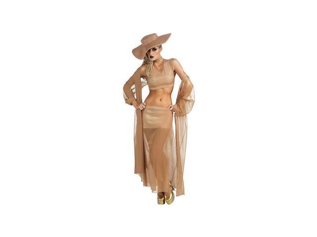 Womens Lady Gaga Gold Grammy Sexy Costume