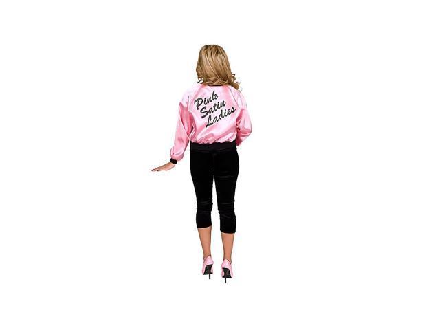 Ladies Printed Pink Satin Jacket Adult Costume