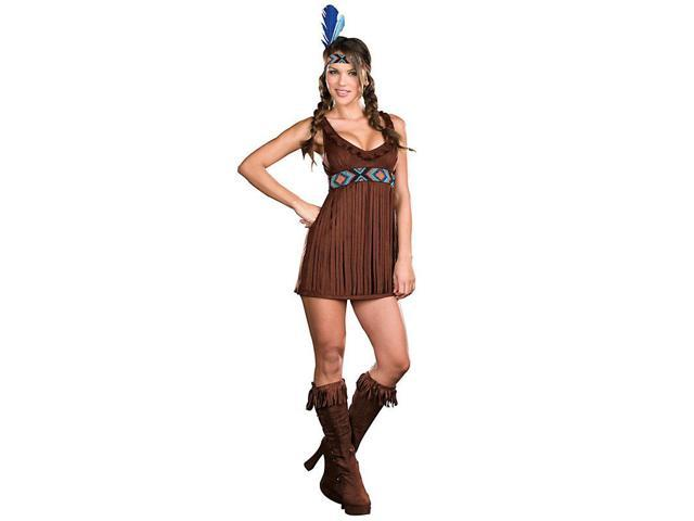 Tribal Trouble Women's Sexy Native American Costume