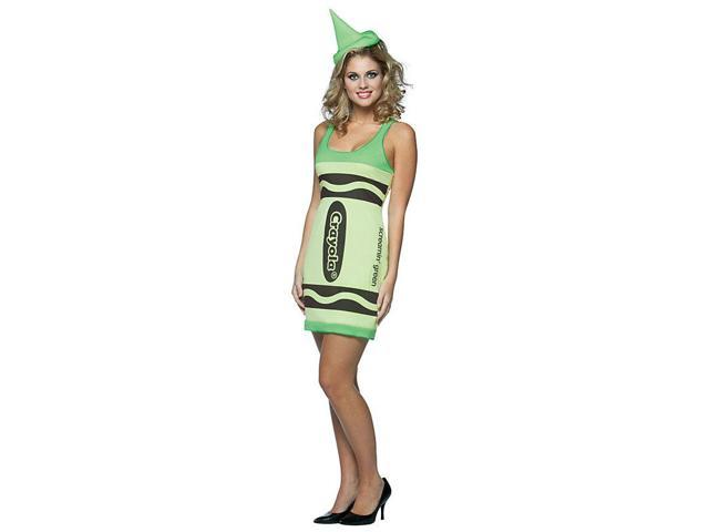 Screamin' Green Crayola Crayon Tank Dress Costume Adult