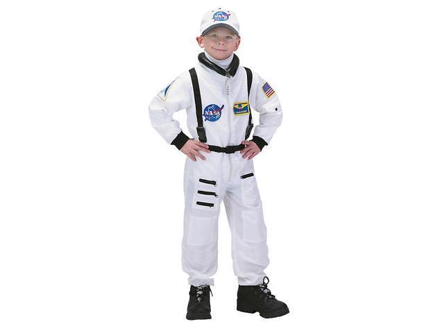 Deluxe Kid's White Nasa Junior Astronaut Costume