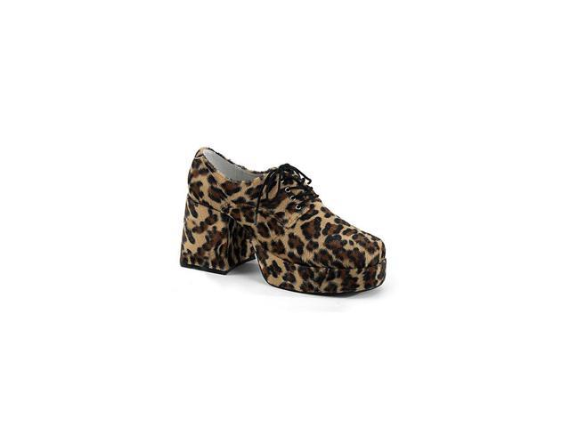Cheetah Fur Men's Platform Shoes