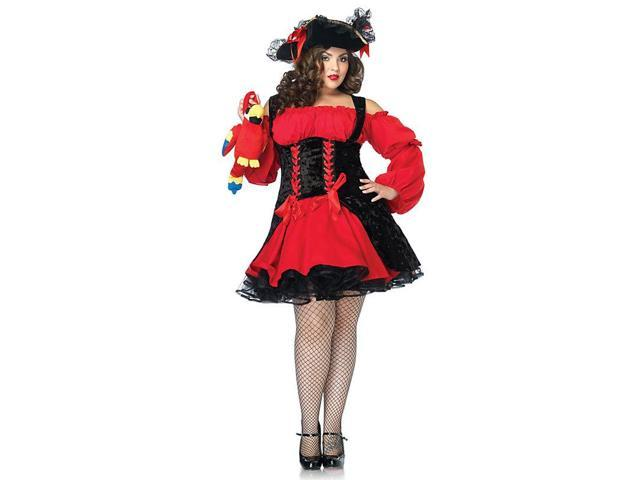 Women's Pirate Wench Plus Vixen Costume