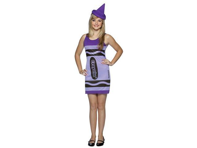 Wisteria Purple Crayola Crayon Tank Dress Costume Teen