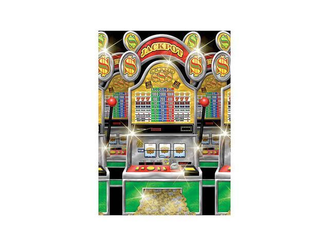 Casino slot machine room roll decoration each party for Room decoration products